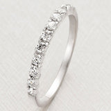 Fashion 925 Sterling Silver Platinum Plated Cubic Zirconia Women's Ring