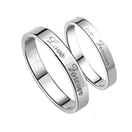 Love Forever Minimalist Couple Rings