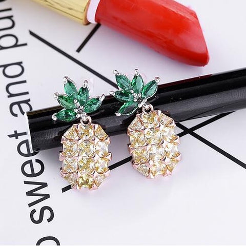 Romantic Party  Pineapple Stud Earrings