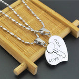 Silver Key To Heart I Love You Couple Necklaces