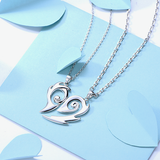 Romantic 925 Sterling Silver Soulmate Design Couple Necklace
