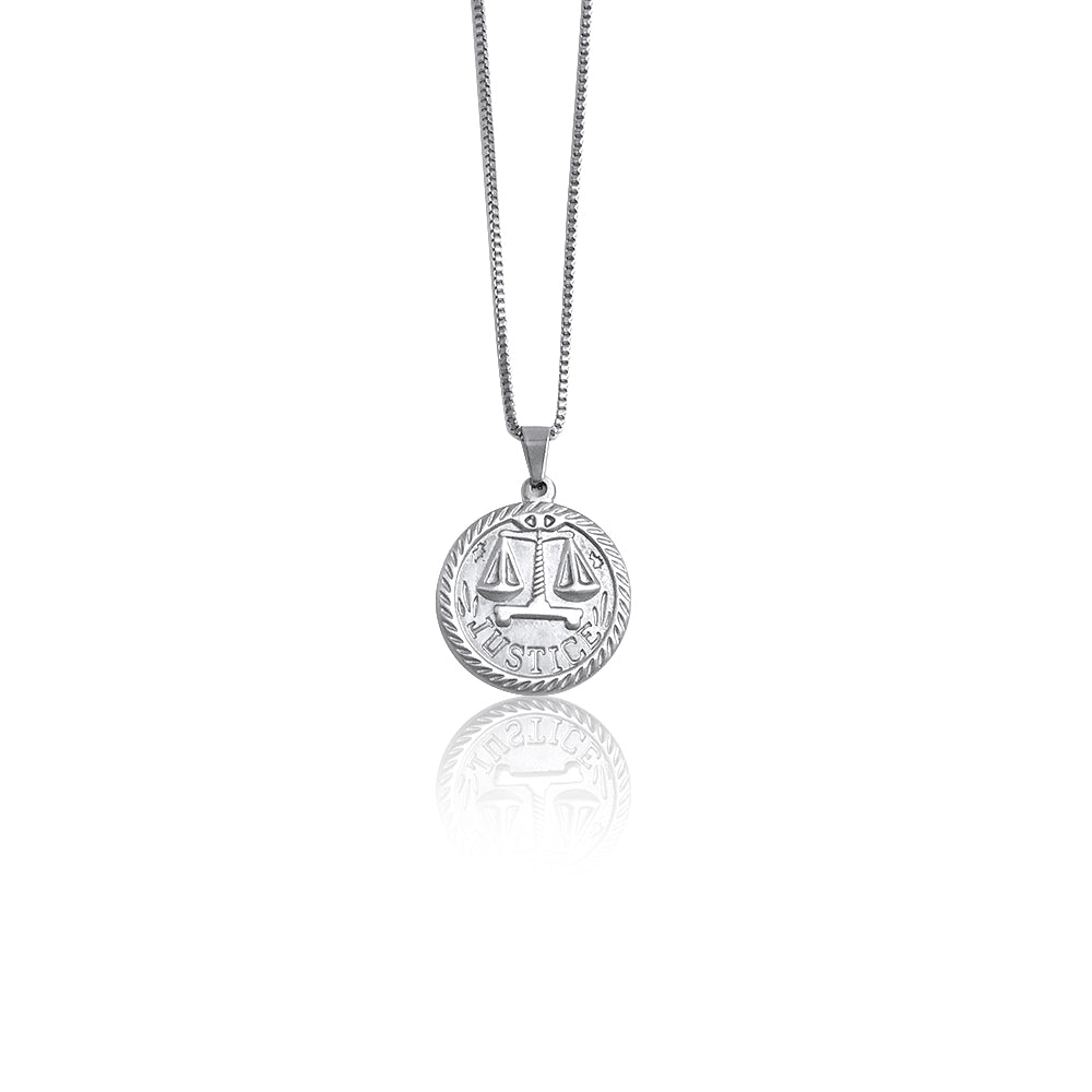 Supremacy Justice Titanium Steel Pendent Necklace