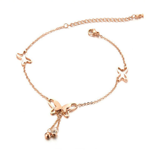 Rose Gold Butterfly Bracelet/Anklet
