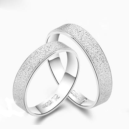 Sanded Smooth Simple Style 925 Sterling Silver Couple Rings (Price For a  Pair)