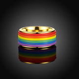 Titanium Rainbow  Men's Ring