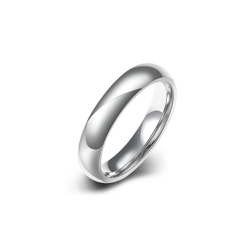 Minimalist Stainless Steel Women Band Ring