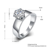 Stainless Steel Engagement Ring