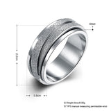 Stainless Steel Rotatable Ring Band