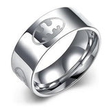 Personalized Batman Logo Men's Titanium Ring