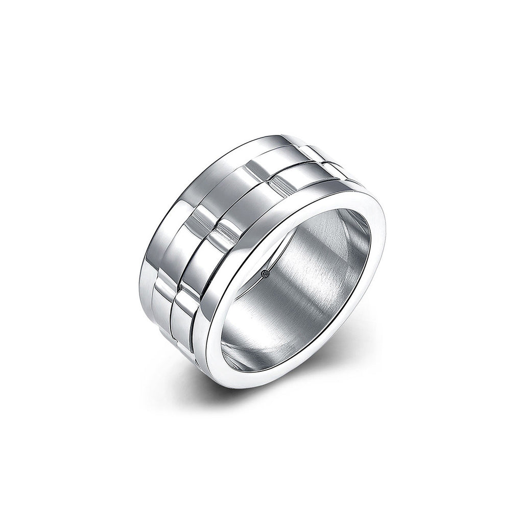 Men's Stainless Stell Rotatable Ring