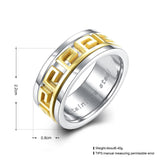 Titanium  Men Men's Ring Fret Pattern