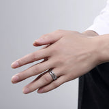 Stainless Steel Men Men's Ring Silver