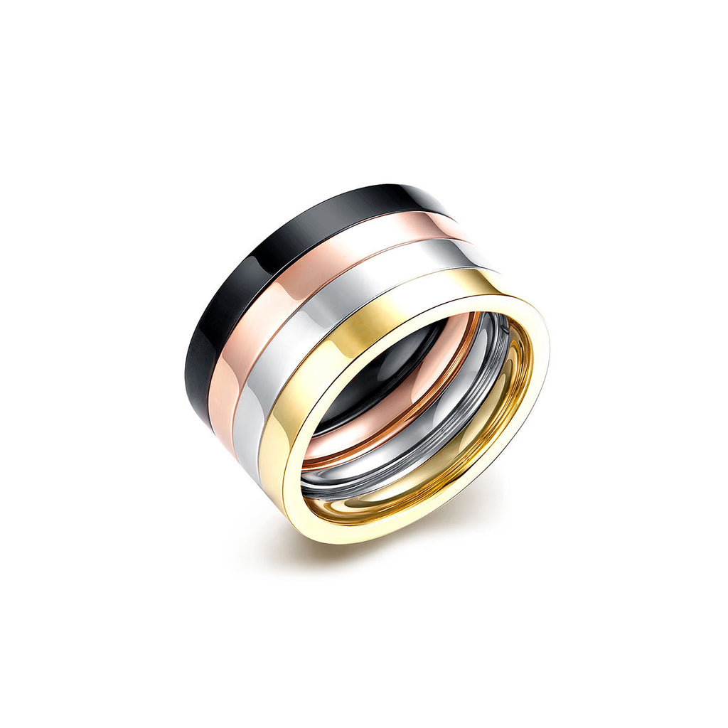 Multiple Color Layer Ring Set