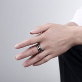 Rotatable Stainless Steel Men's Ring