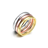 Tri-layered Shiny Ring Set