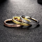 Tri-layered Ring Set Roman Numerals