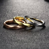 Tri-layered Ring Set Ripple