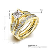 Luxury Zircon Ring Set