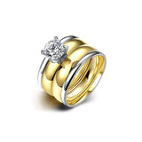 Gold Plated Zircon Ring Set