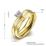 Gold Zircon Ring Set