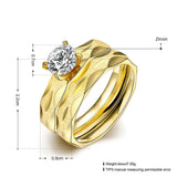 Fantastic Dream Gold Zircon Ring Set