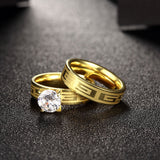 Vintage Zircon Ring Set Fret Pattern