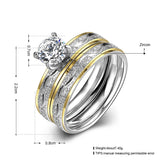 Leaf Gold Zircon Women Ring Set