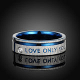 """Love Only You"" Titanium Men's Engagement Ring"