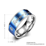 """Forever Love"" Titanium Men's Ring"