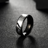 Gun Black Men Ring
