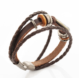 Aquarius Multi-layer Weave Leather Bracelets