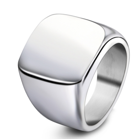 Retro Silver Titanium Men's Ring