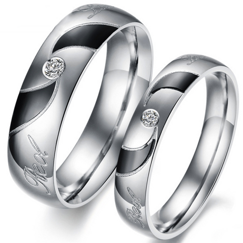 Personalized Love Of Spiral Titanium Steel Rings For Lover