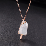 Popsicle Rose Gold Plated Necklace