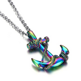 Anchor Pattern Stainless Steel Necklace