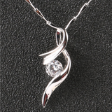 925 Sterling Silver 0.6 ct Moissanite Note Shaped Necklace