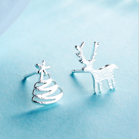 Christmas Elk Deer & Tree Ear Sud Earrings