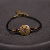 Elk Antler Leather Women's Bracelet