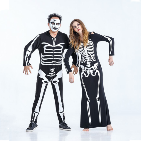 Skeletons Couple Halloween Costumes