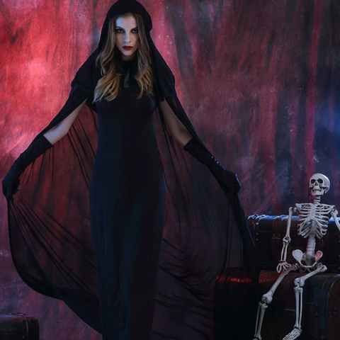 Black Witch Female Halloween Costumes