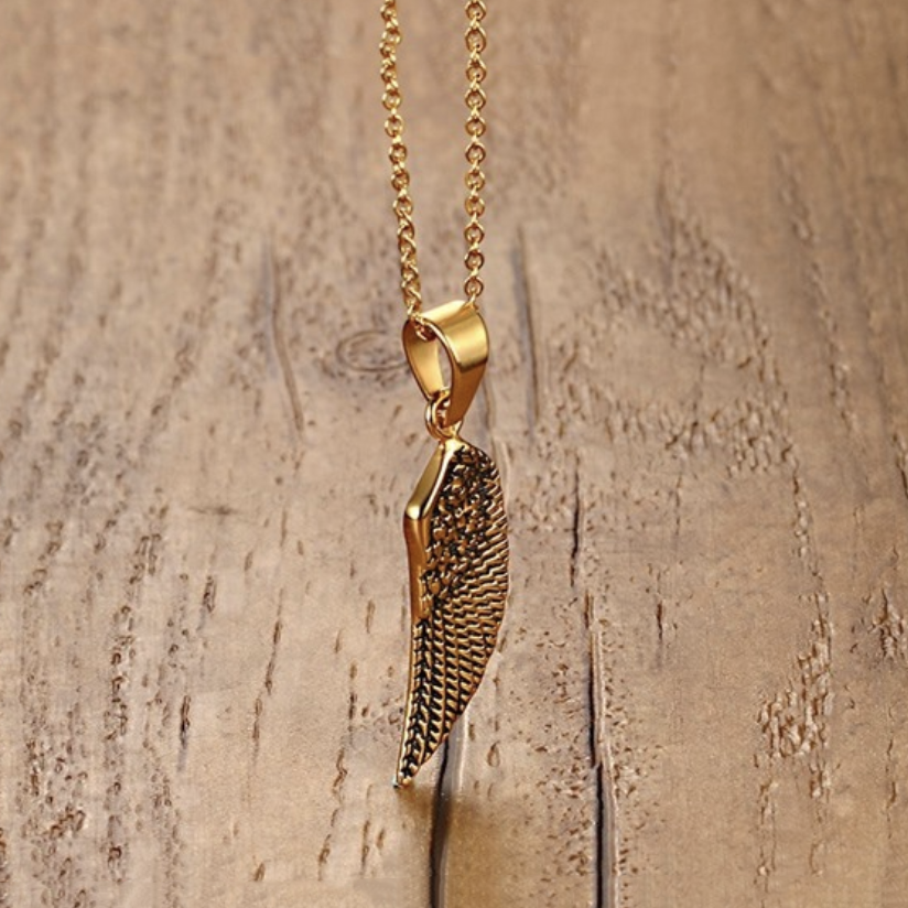 Angel Wing Gold Plated Pendent Necklace