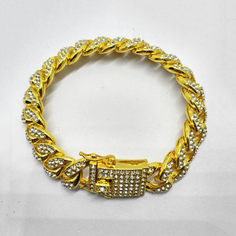 Cuban Link Zircon Decorated Hip-Hop Unisex Bracelet