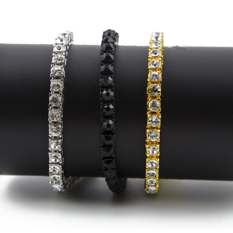 Hip Hop Style Zircon Inlaid Men's Bracelet