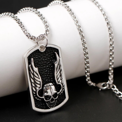 Skeleton Titanium Steel Silver Necklace