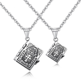Holy Bible Titanium Couple Pendant Necklaces