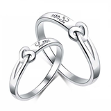 """Forever Care"" 925 Sterling Silver Couple Rings"