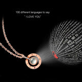 100 Ways to Show Love Projection Gold Plated Pendant Necklace