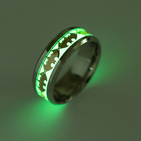 Batman Luminous Titanium Steel Unisex Rings