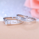 """Love Forever"" 925 Silver Couple Rings (Open Size)"