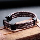 Retro PU Leather Weave Men's Bracelet